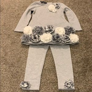 Biscotti grey long-sleeve set Size 3